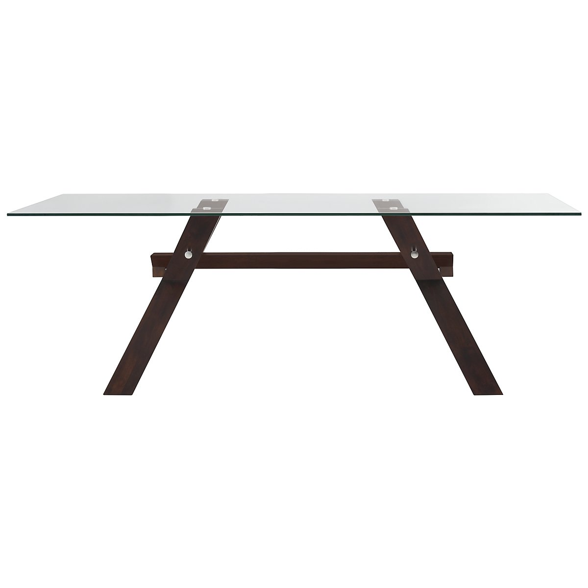 Emma Dark Tone Glass Rectangular Table