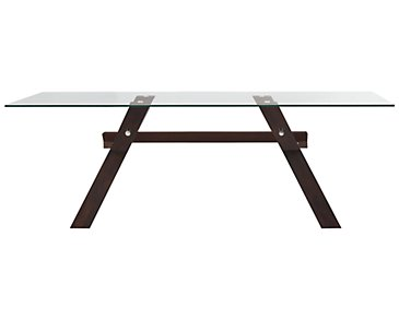 "Emma Dark Tone 83"" Rectangular Table"