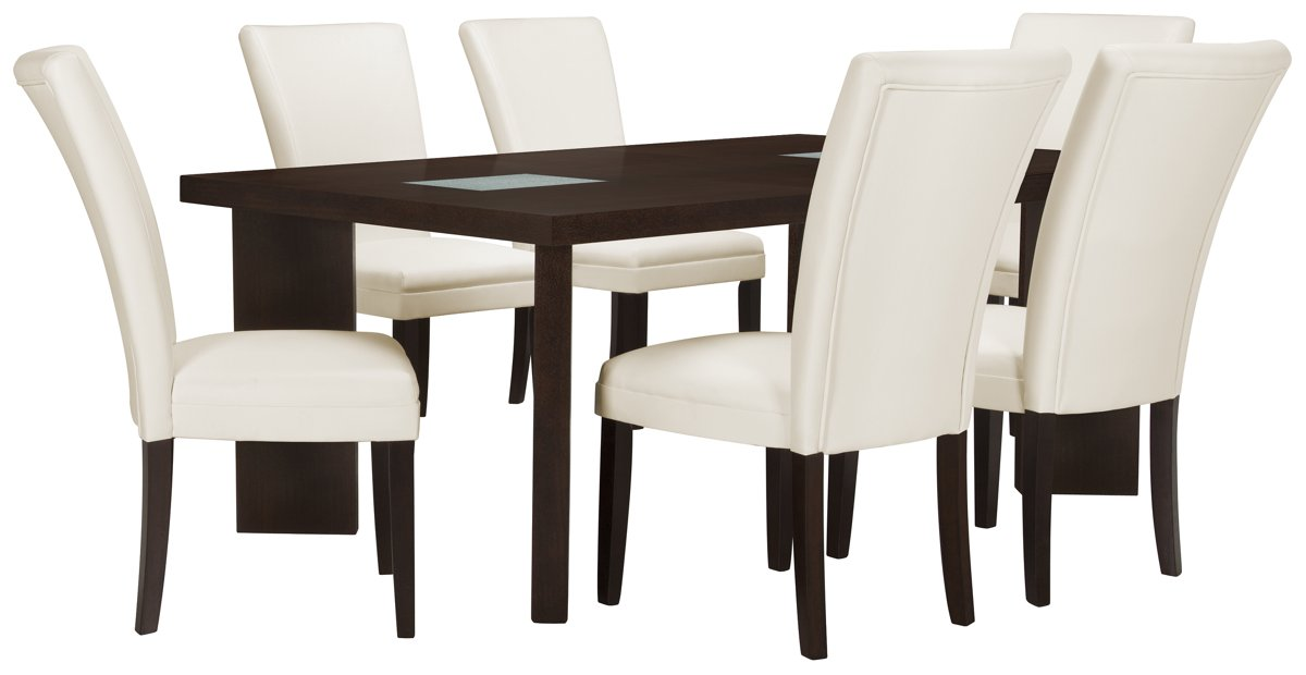 Delano2 White Rect Table & 4 Bonded Chairs