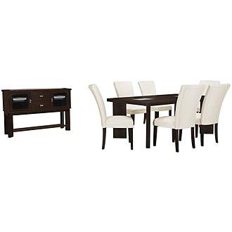 Delano2 White Rectangular Dining Room