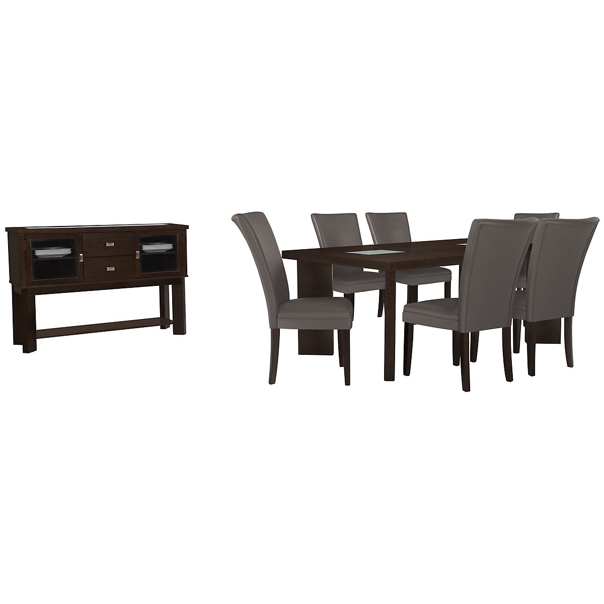 Delano2 Dark Gray Dining Room