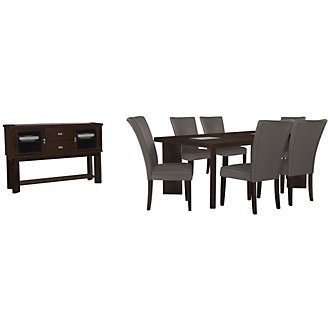 Delano2 Dark Gray Rectangular Dining Room