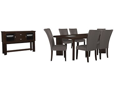 Delano2 Dark Gray Rectangular Dining Room