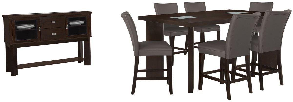 Delano2 Dark Gray High Dining Room