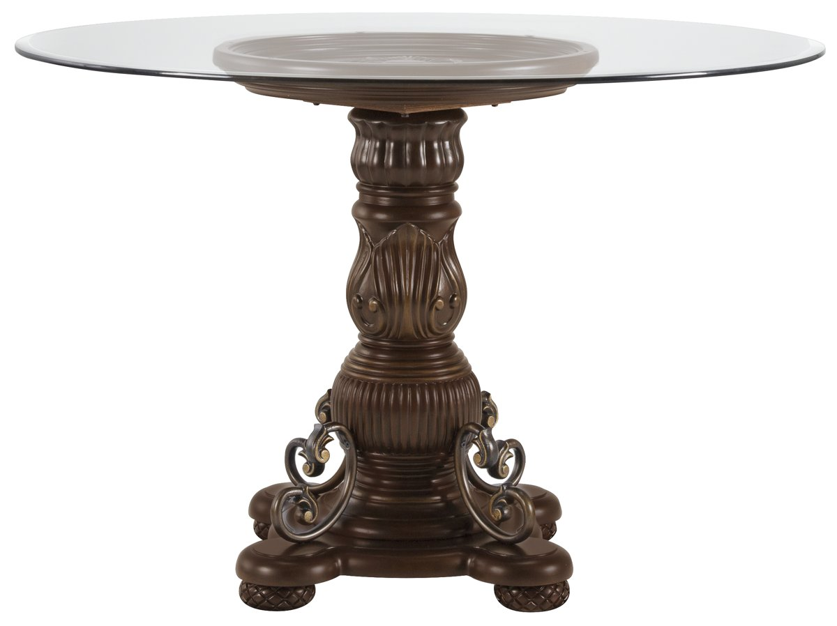 Tradewinds Dark Tone Glass Round High/Low Table