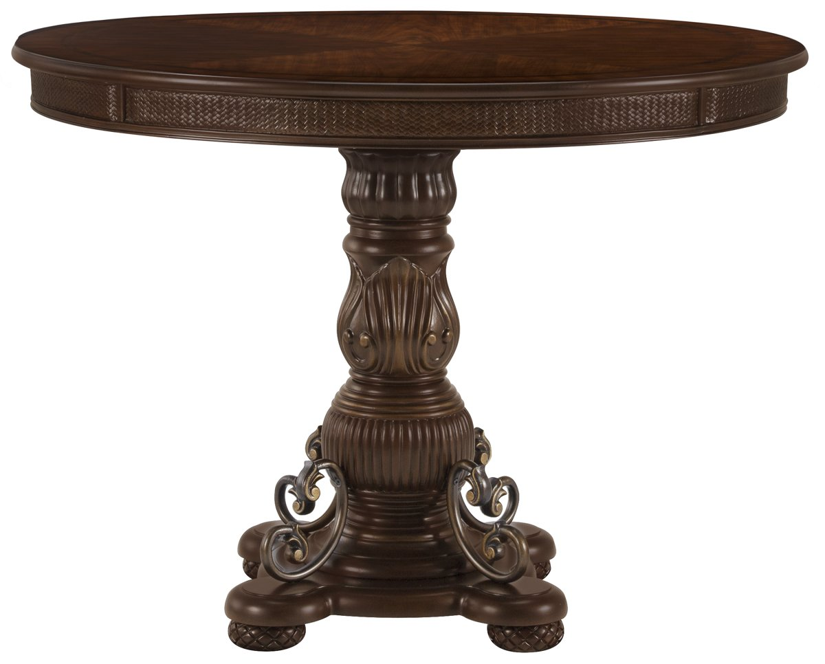 Tradewinds Dark Tone Wood Round High/Low Table