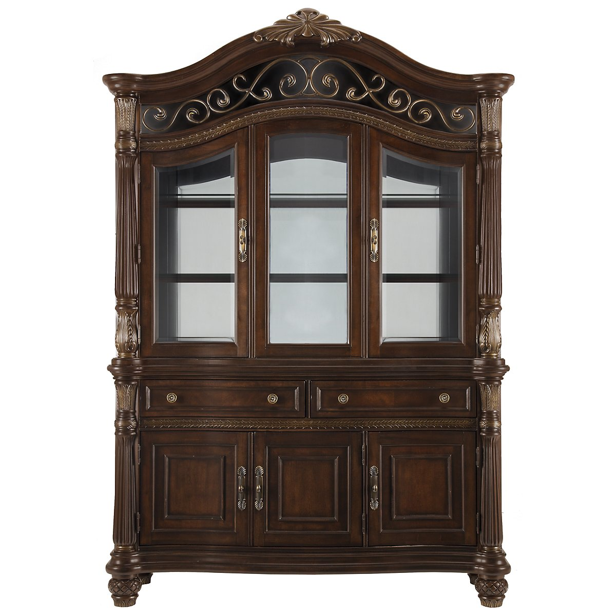 Tradewinds Dark Tone China Cabinet
