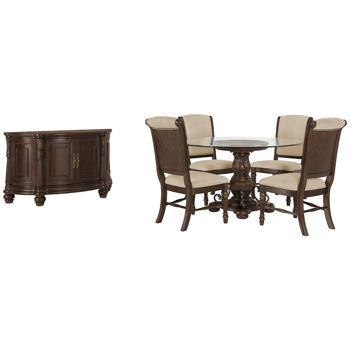 Tradewinds Dark Tone Glass Dining Room