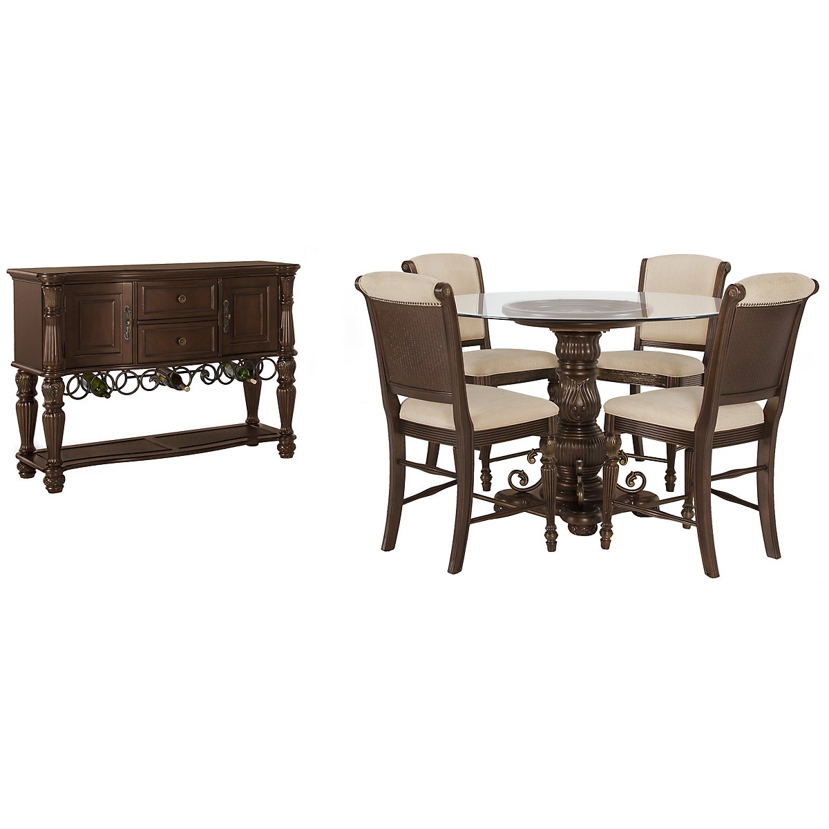 Tradewinds Dark Tone Glass High Dining Room