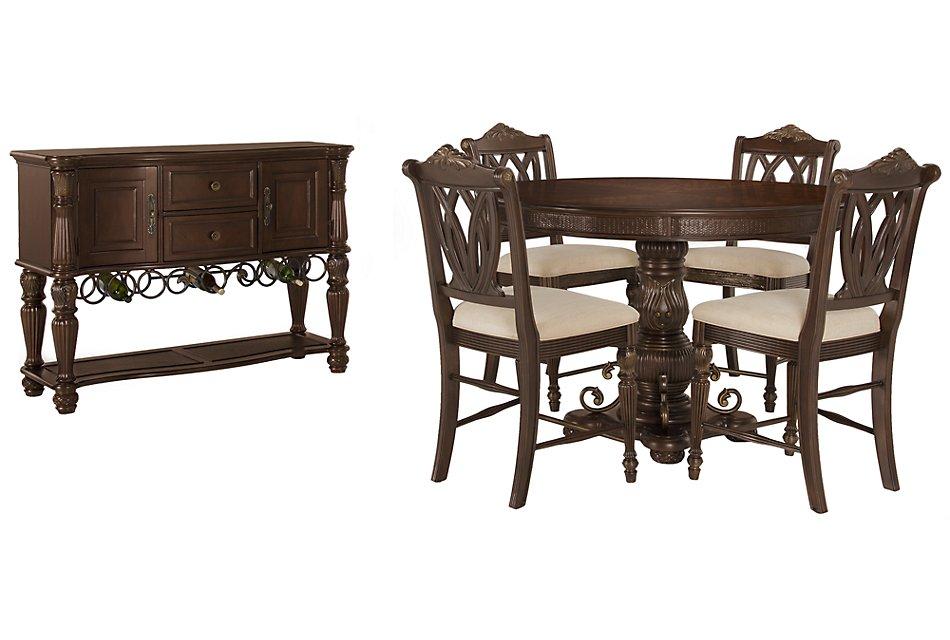 Tradewinds Dark Tone Wood High Dining Room