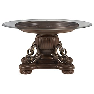 Tradewinds Dark Tone Glass Round Coffee Table