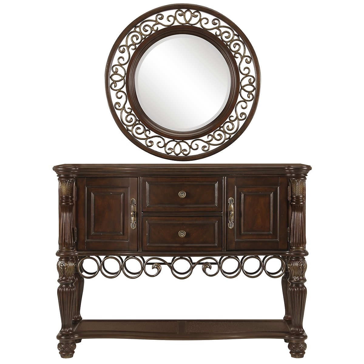 Tradewinds Dark Tone Sideboard & Mirror