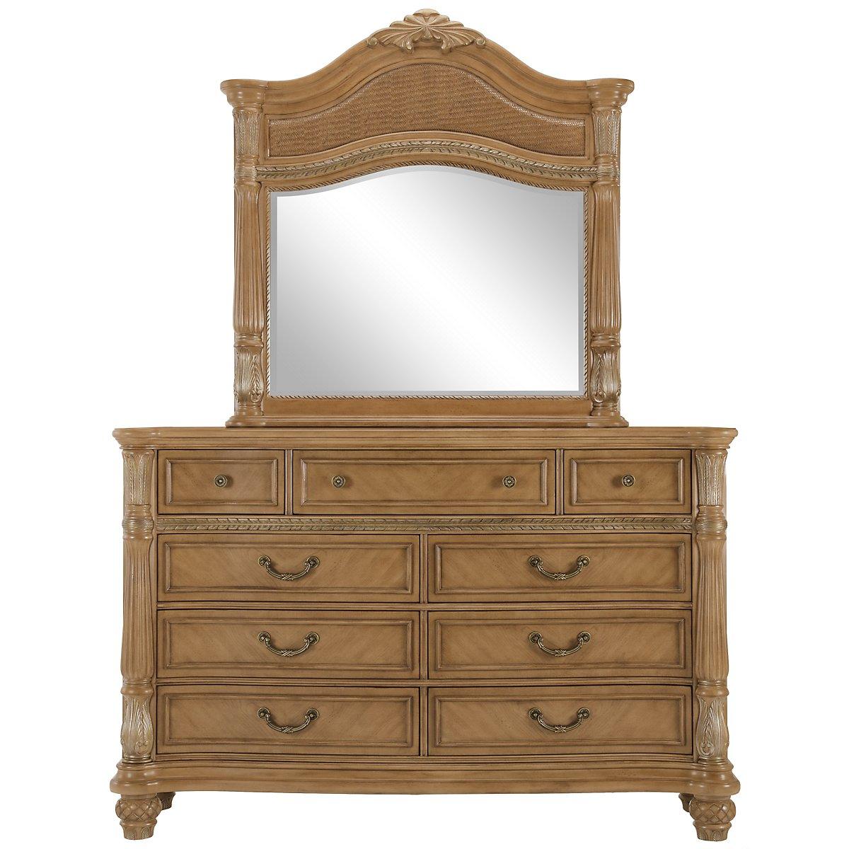 Tradewinds Light Tone Woven Dresser & Mirror