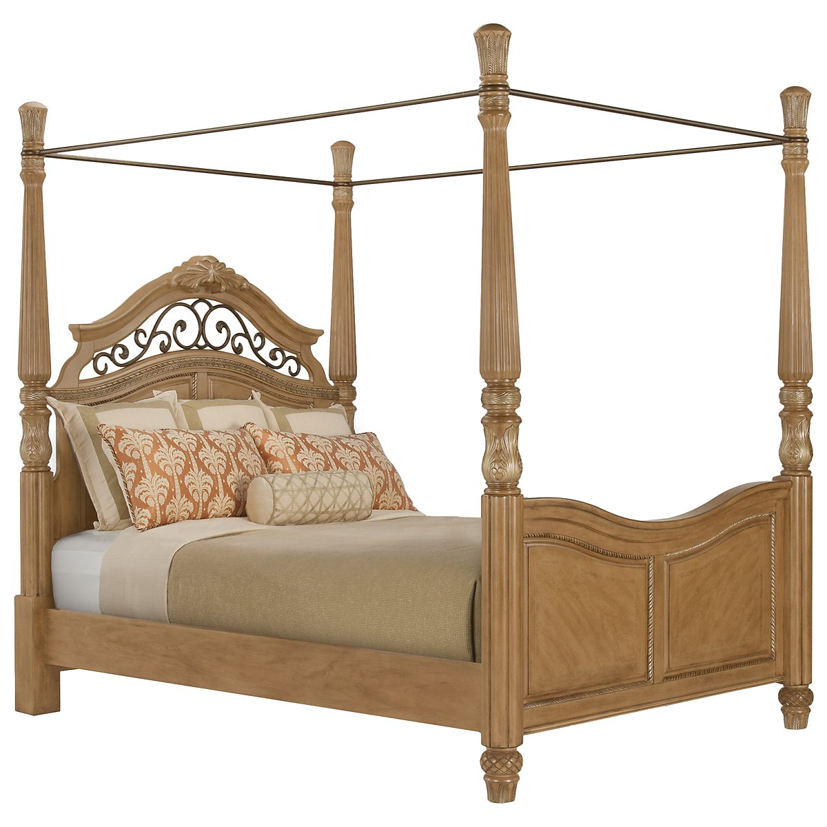 Tradewinds Light Tone Canopy Bed