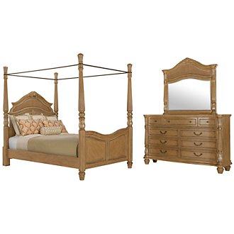 Tradewinds Light Tone Woven Canopy Bedroom