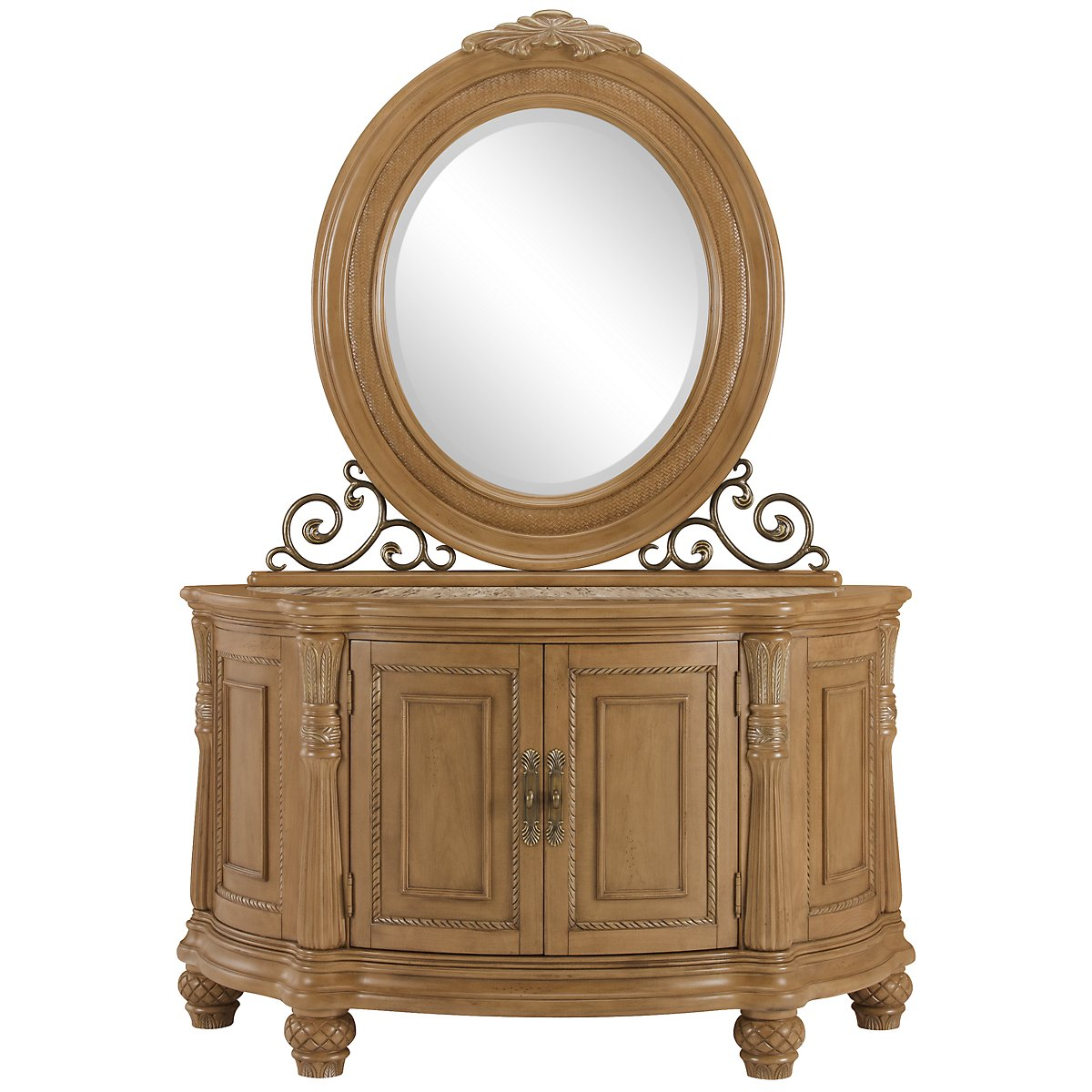 Tradewinds Light Tone Server & Mirror