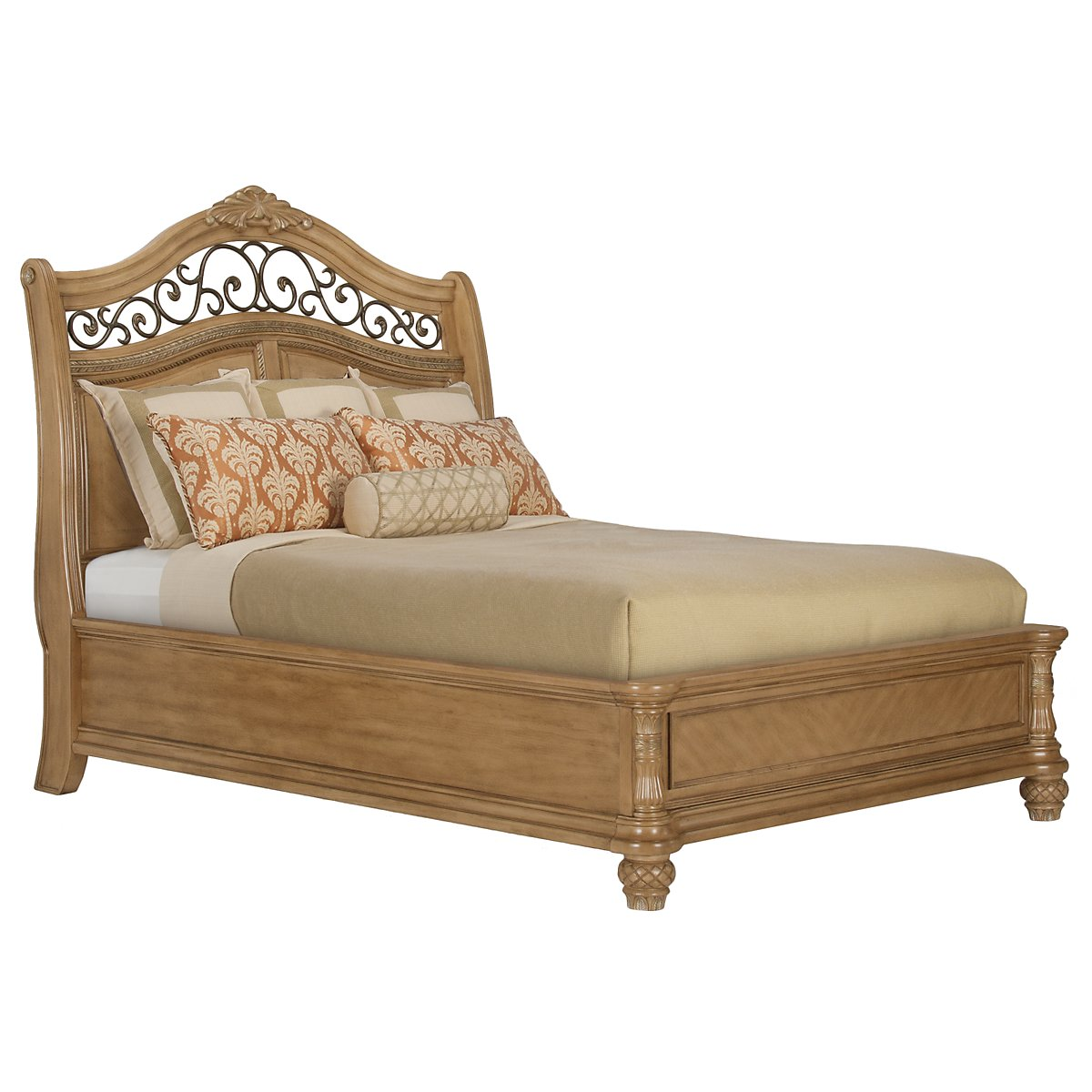 Tradewinds Light Tone Platform Bed