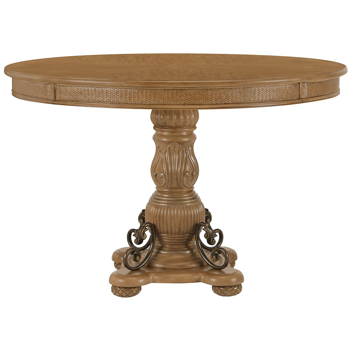 Tradewinds Light Tone Round High/Low Table