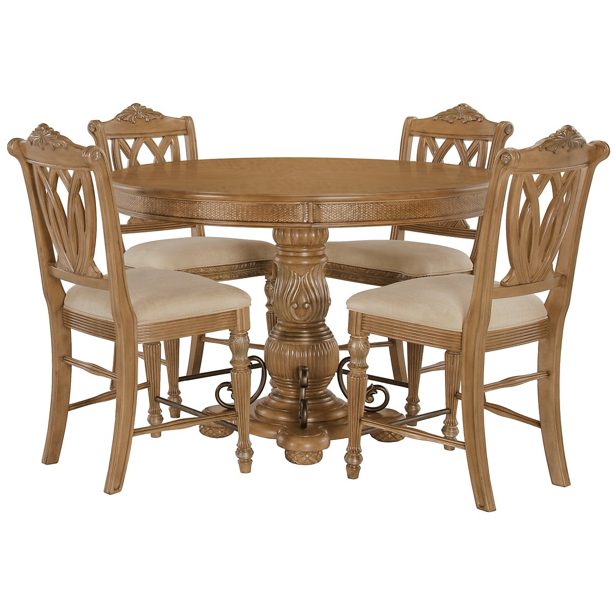 city furniture tradewinds light tone round high dining room