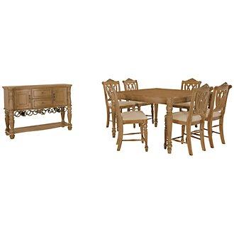 Tradewinds Light Tone Square High Dining Room