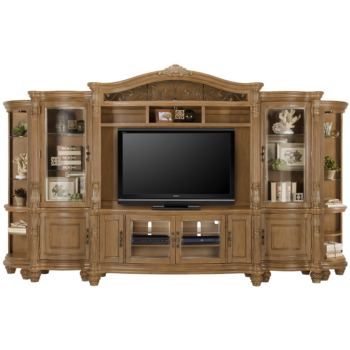 Tradewinds Light Tone Entertainment Wall with Corners