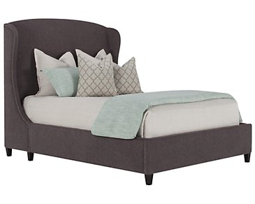 Canyon Dark Gray Upholstered Platform Bed