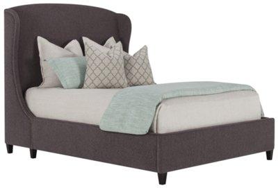 canyon dark gray upholstered platform bed