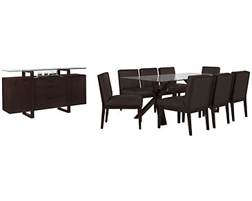 "Emma Dark Brown 83"" Dining Room"