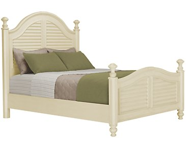 Claire White Poster Bed