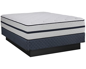 Kevin Charles Wellspring Luxury Firm Innerspring Mattress Set