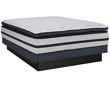 Kevin Charles Reflection Plush Innerspring Pillow Top Low-Profile Mattress Set