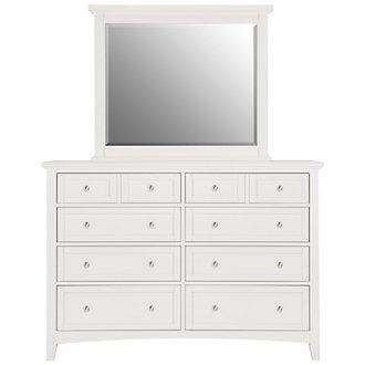 Captiva White Large Dresser & Mirror
