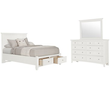 Captiva White Panel Storage Bedroom