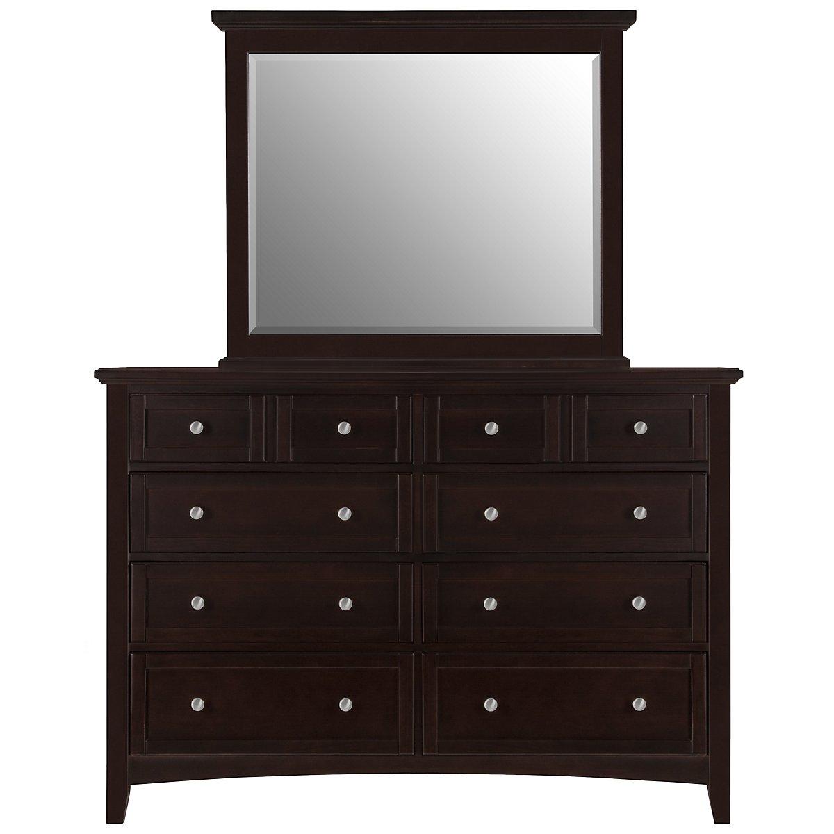 Captiva Dark Tone Large Dresser & Mirror