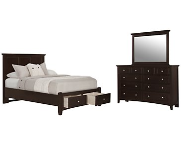 Captiva Dark Tone Panel Storage Bedroom