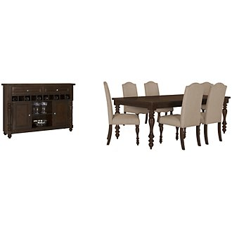Mcgregor Dark Tone Rectangular Dining Room