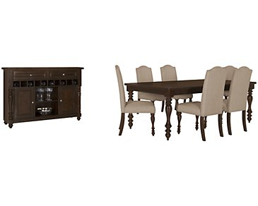 Mcgregor Dark Tone Rectangular Dining Room