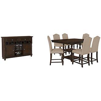 Mcgregor Dark Tone High Dining Room