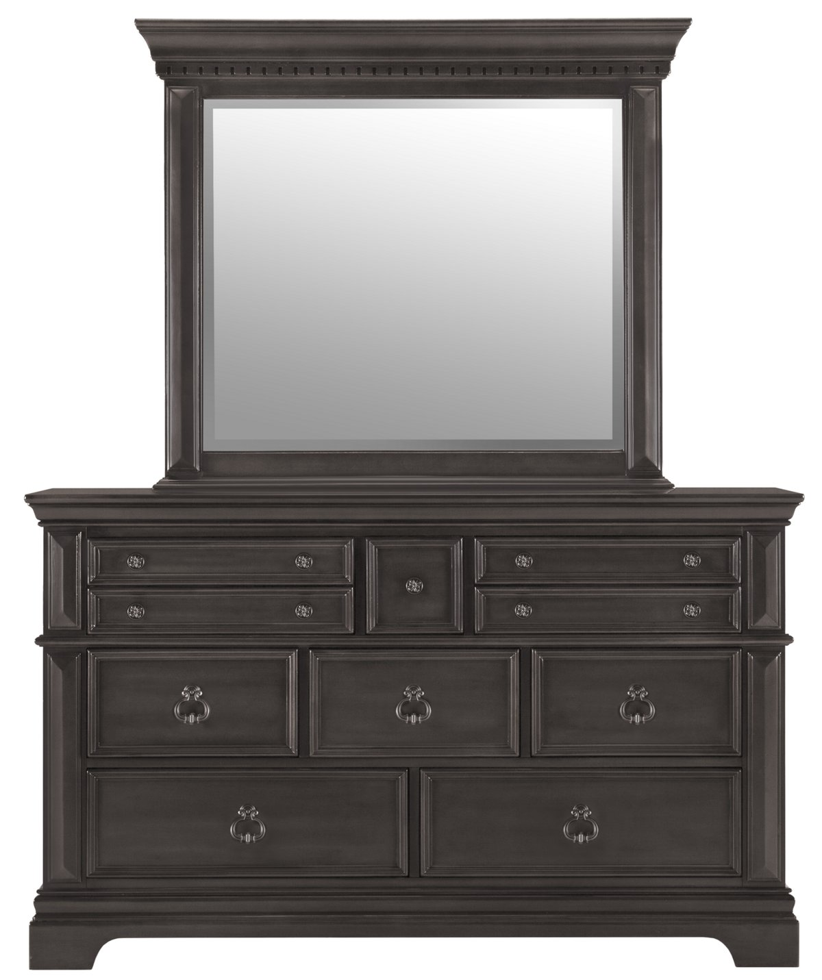 Emerson Gray Wood Dresser & Mirror