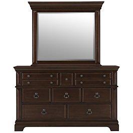 Emerson Dark Tone Wood Dresser Mirror