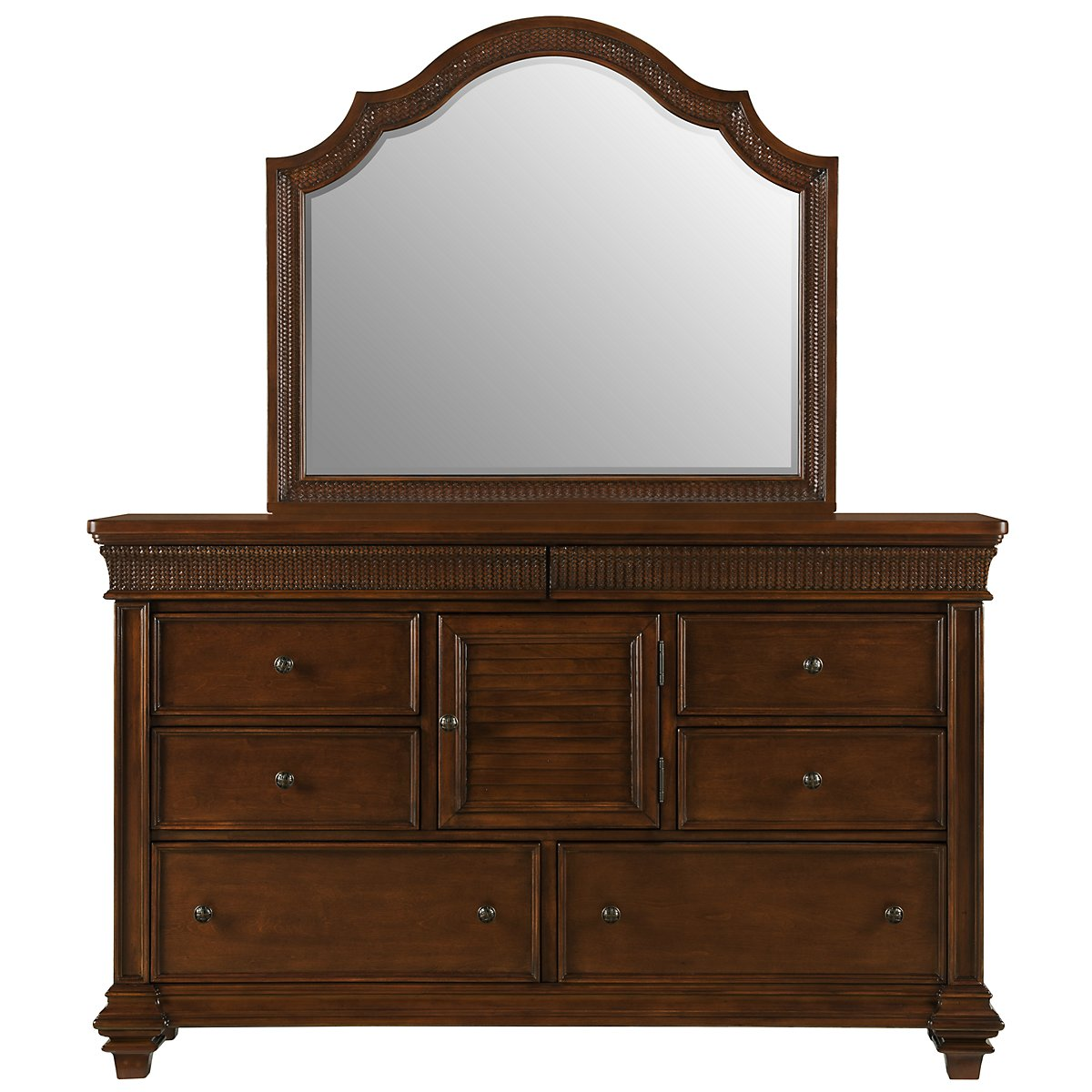 city furniture antigua mid tone dresser mirror. Black Bedroom Furniture Sets. Home Design Ideas