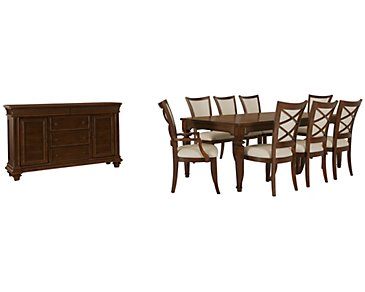 Antigua Mid Tone Rectangular Dining Room