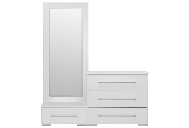 Dimora White Wood Wardrobe