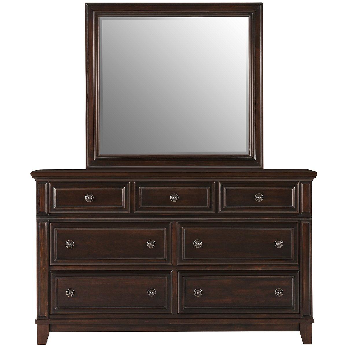 City Furniture Harwich Dark Tone Dresser amp Mirror