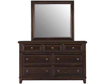 Harwich Dark Tone Dresser & Mirror