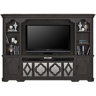 Corinne Dark Tone Entertainment Wall