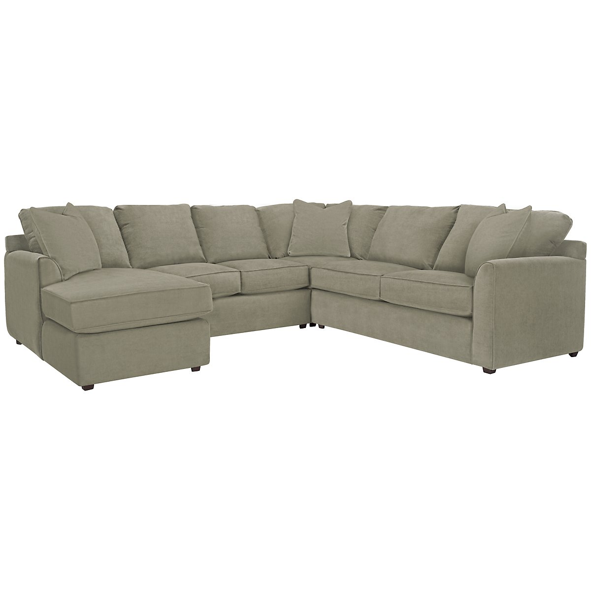 Express3 Light Green Microfiber Small Left Chaise Sectional