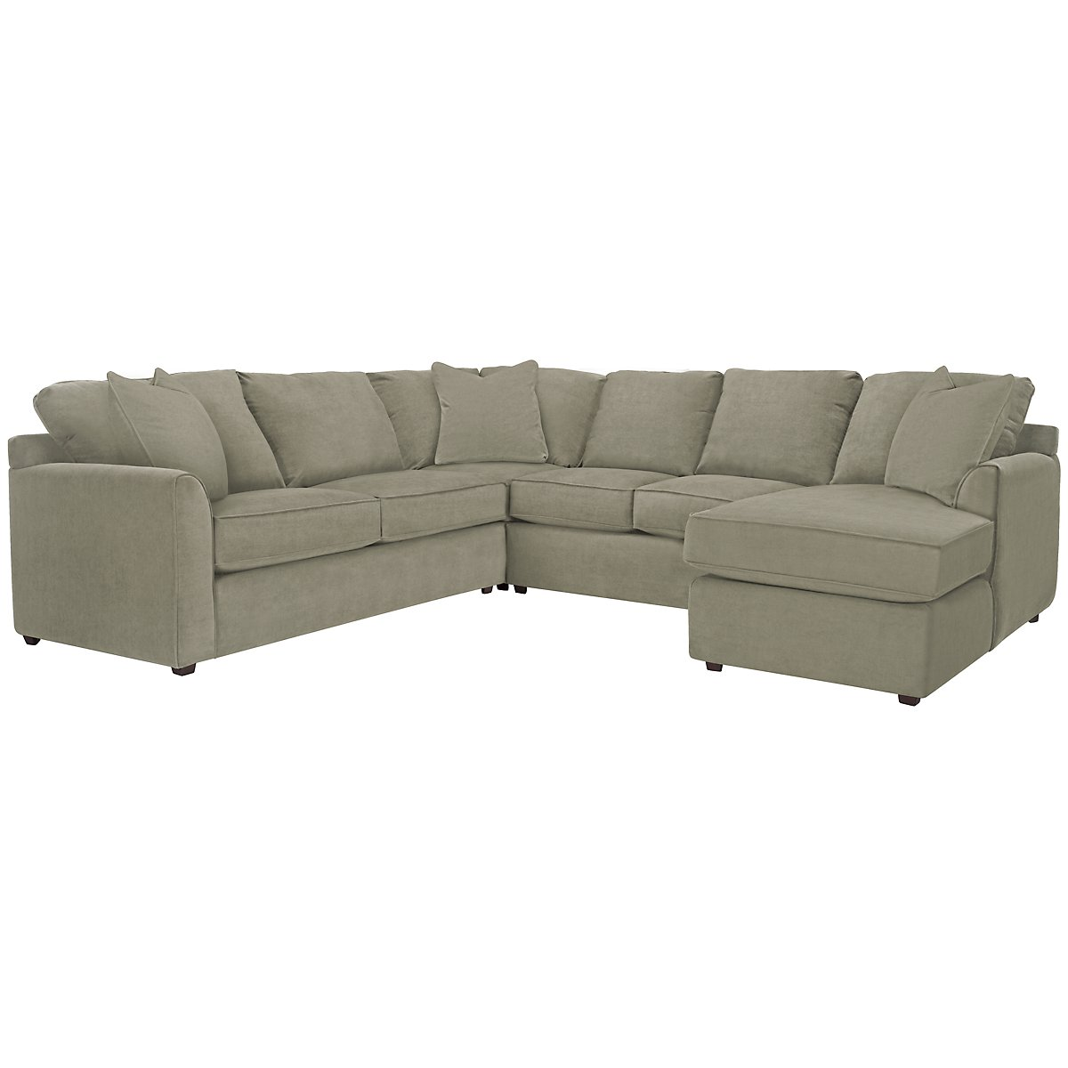 Express3 Light Green Microfiber Small Right Chaise Sectional