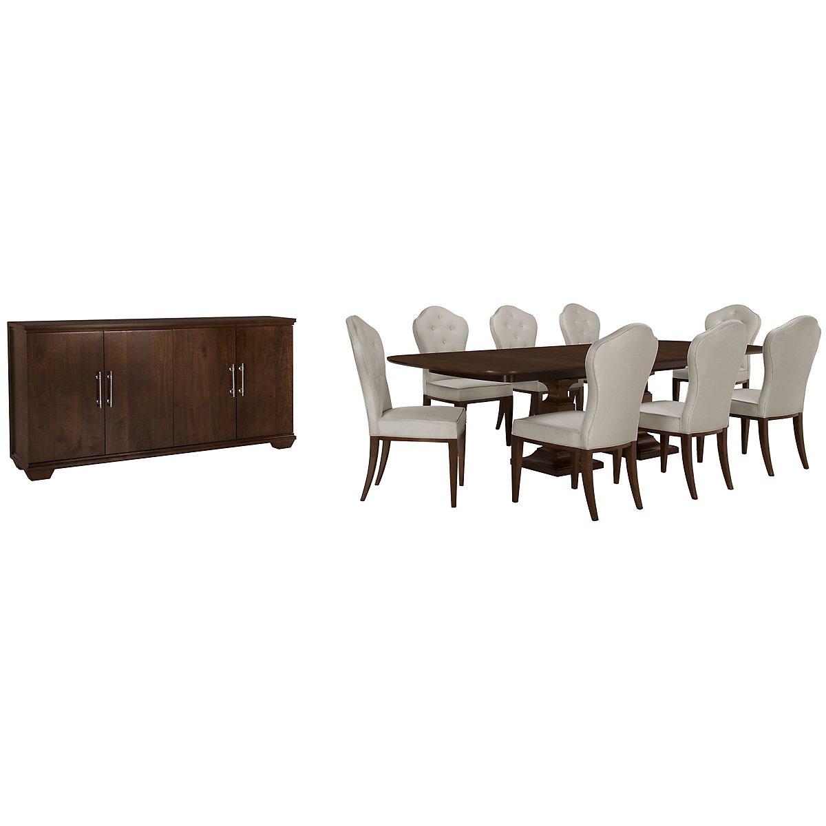 Haven Mid Tone Rectangular Dining Room