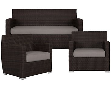 Grate Gray Outdoor Living Room Set